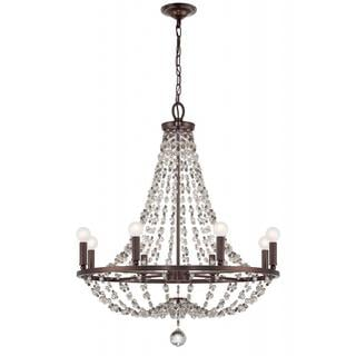 8 Light Crystal Chandelier: Channing 8-light Chocolate Bronze Crystal Chandelier - Free Shipping Today  - Overstock.com - 15646565,Lighting