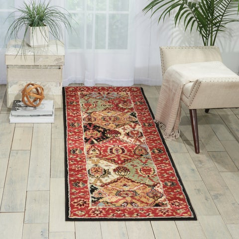 Nourison Modesto Multicolor Traditional Runner Rug - 2'2 x 7'3