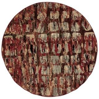 Nourison Modesto Red Rug (5'3 Round)