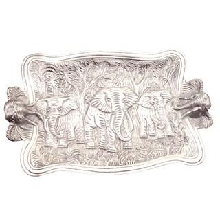Elephant 19-inch Cast Aluminum Platter