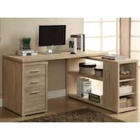 Natural Wood/Veneer Reclaimed-look Corner Desk