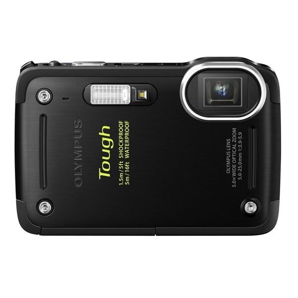 Olympus TG-620 i HS 12MP Black Waterproof Digital Camera