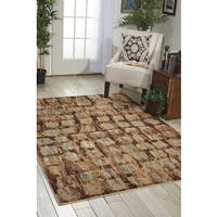 Nourison Modesto Transitional Beige Area Rug - 7'10 x 10'6