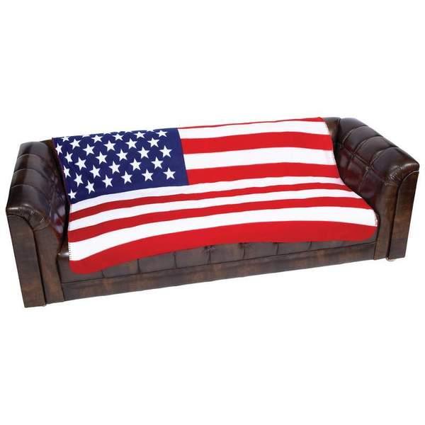 United States Flag Print Fleece 50 x 60-inch Throw