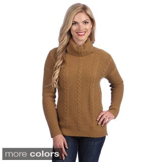 Ply Cashmere Women's Cashmere Turtleneck Sweater