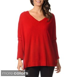 Ply Cashmere Women's Cashmere V-Neck Sweater