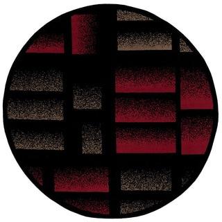 Nourison Modesto Black Area Rug (5'3 Round)