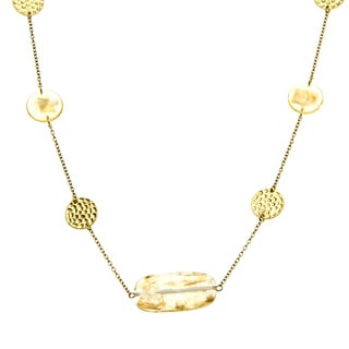 Alexa Starr Goldtone Fleck Illusion Lucite Necklace