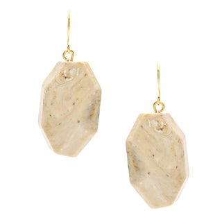 Alexa Starr Goldtone Lucite Nugget Drop Earrings