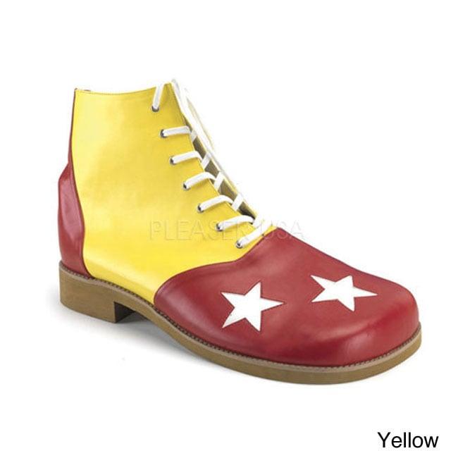 Funtasma Men's 'Clown-02' Star Print Clown Shoes (One siz...