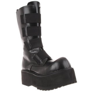 Demonia Men's 'Combat-208' Black Mid-calf Platform Boots