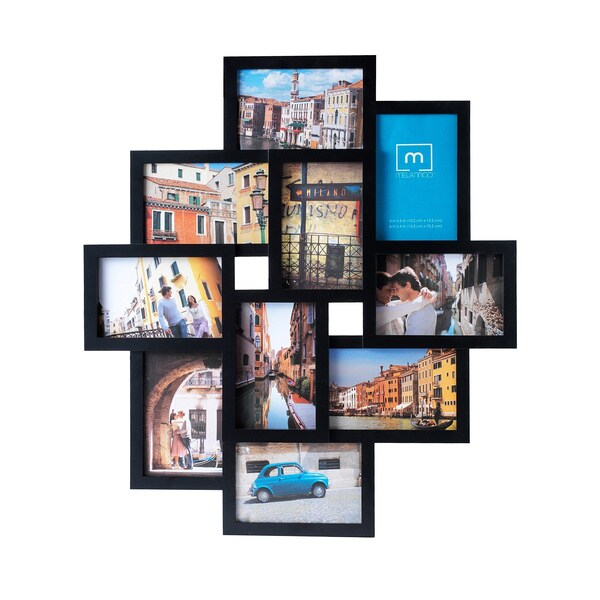 Melannco 10-opening Black Collage Photo Frame