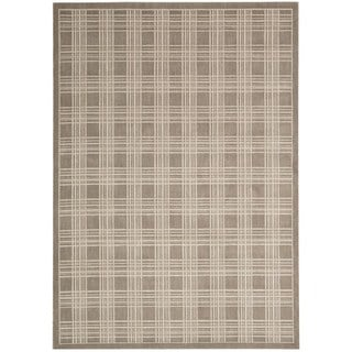 kathy ireland Hollywood Shimmer Americana Mission Craft Mocha Area Rug by Nourison (5'3 x 7'5)