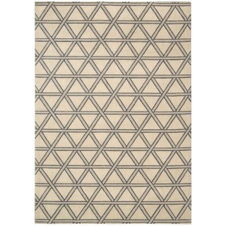 kathy ireland Hollywood Shimmer Architectural Motor Crossing Bisque Area Rug by Nourison (3'9 x 5'9)