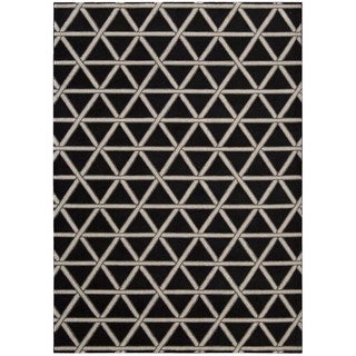 kathy ireland Hollywood Shimmer Architectural Motor Crossing Onyx Area Rug by Nourison (3'9 x 5'9)