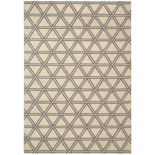 kathy ireland Hollywood Shimmer Architectural Motor Crossing Bisque Area Rug by Nourison (5'3 x 7'5)