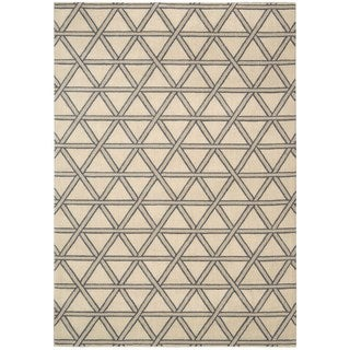 kathy ireland Hollywood Shimmer Architectural Motor Crossing Bisque Area Rug by Nourison (7'9 x 10'10)