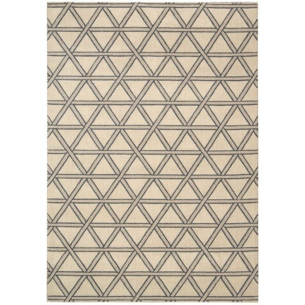 kathy ireland Hollywood Shimmer Architectural Motor Crossing Bisque Area Rug by Nourison - 7'9 x 10'10