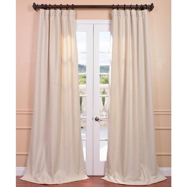 Exclusive Fabrics Beige Linen Weave Curtain Panel