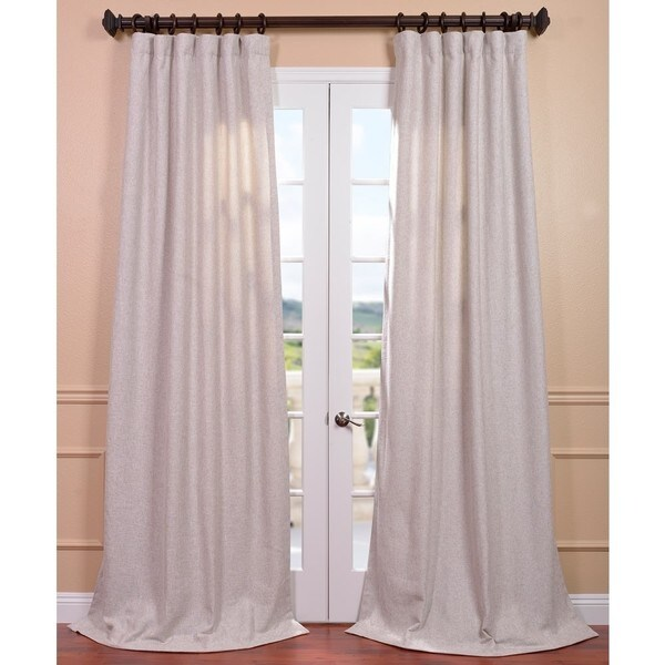 Shop Exclusive Fabrics Oatmeal Linen Curtain Panel