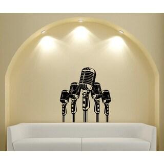 'Microphones Night Club' Vinyl Decal Wall Art Mural