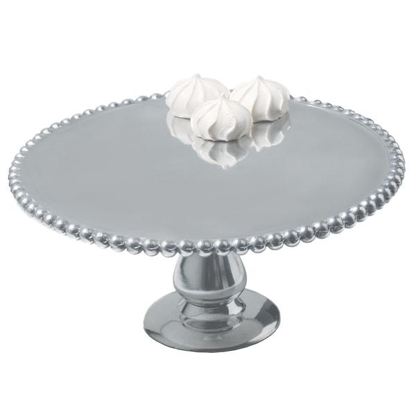 12-inch Beaded Aluminum Cake Pillar