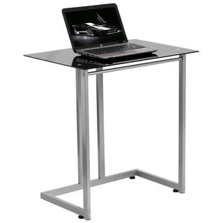 Black Tempered Glass Computer Desk