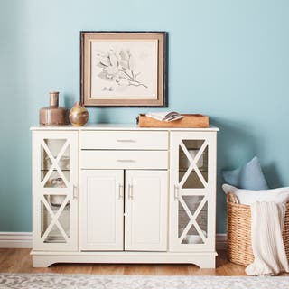 Simple Living Antique White Kendall Buffet|https://ak1.ostkcdn.com/images/products/8335719/P15647392.jpg?impolicy=medium
