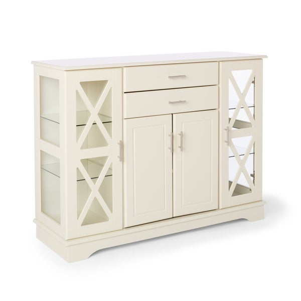 Shop Simple Living Antique White Kendall Buffet (As Is