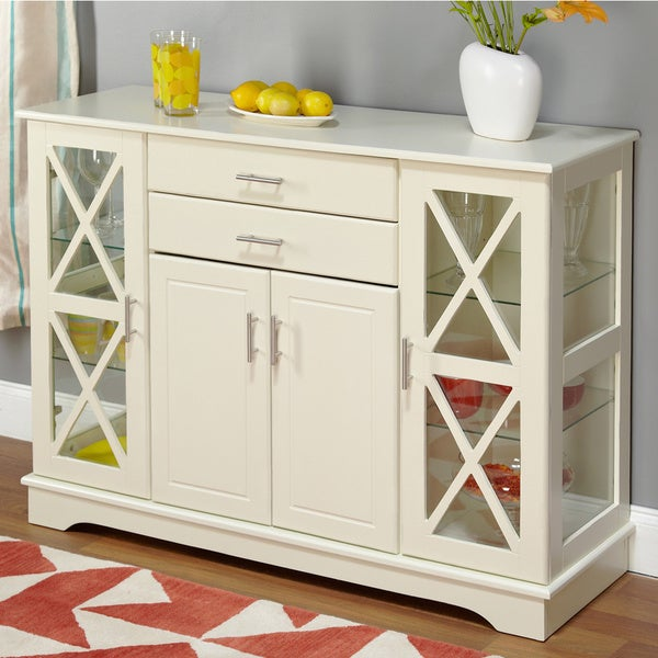 White Sideboards And Buffets: Simple Living Antique White Kendall Buffet
