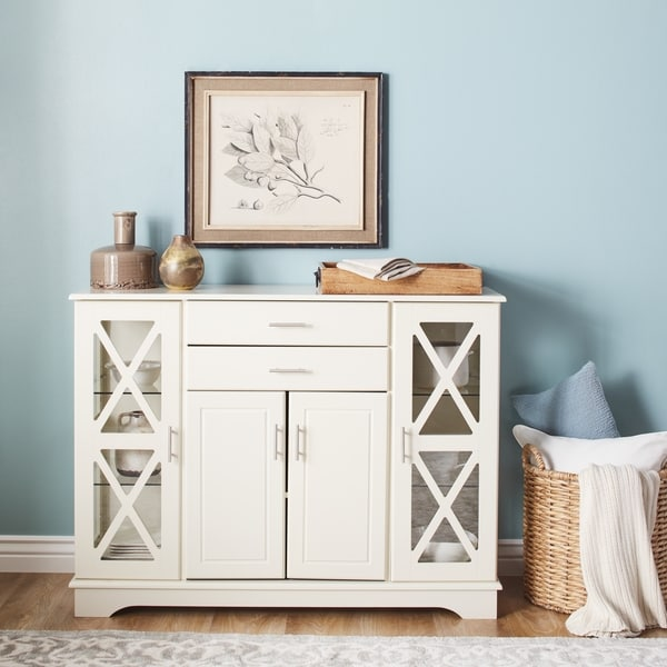 Shop Simple Living Antique White Kendall Buffet Ships To