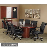 Shop Mayline Luminary Convex Conference Table Free Shipping - Round conference table for 10