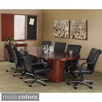 Shop Mayline Aberdeen Boat Shape Conference Table Free - 8 ft conference table