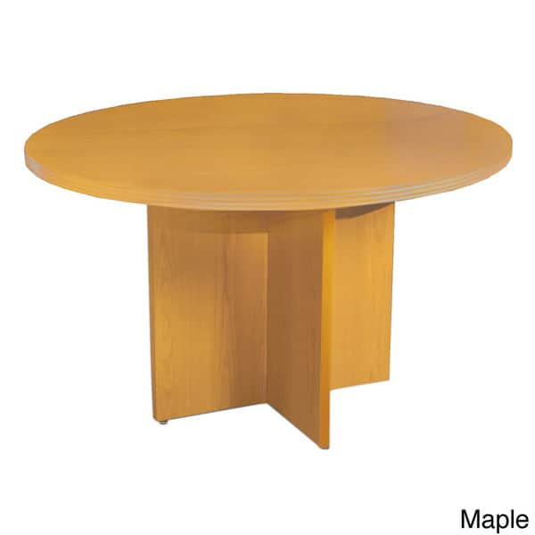 Mayline Luminary 36 Inch Diameter Round Conference Table Overstock 8337270