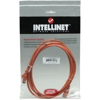 Intellinet Patch Cable, Cat6, UTP, 10', Orange