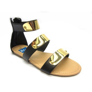 Women's 'Hoops' Hardware-plated Blue Strap Sandals (More options available)