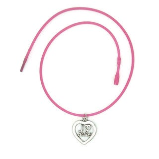 Jewelry by Dawn I Love Ballet Heart Shape Dance Necklace