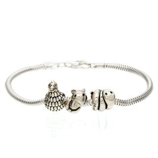 Sterling Silver Animal Bead Bracelet