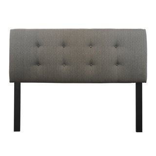 8-button Tufted Candice Charcoal Headboard