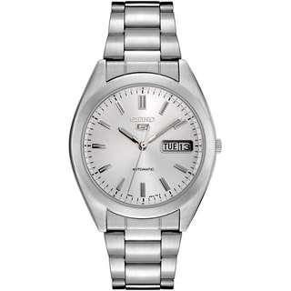 Seiko Men's '5 Automatic' Silvertone Dial Watch