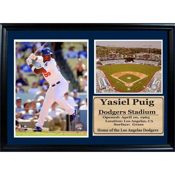 12x18 Yasiel Puig Photo Stat Frame