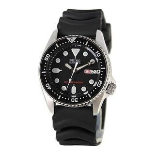 Seiko Men's 'Diver' Automatic Black Rubber Watch