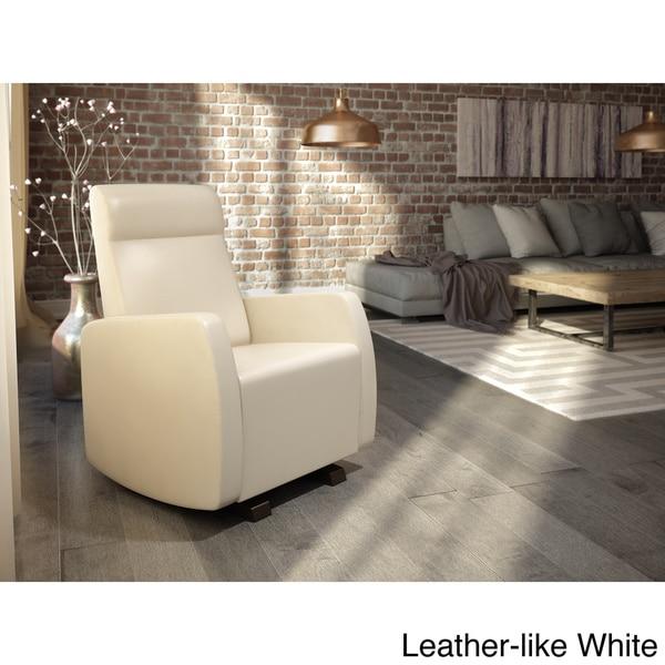 Shop Dutailier Upholstered Glider White Light Grey Or