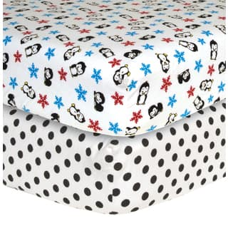 Trend Lab Penguin Flannel Crib Sheets (Pack of 2)|https://ak1.ostkcdn.com/images/products/8338938/8338938/Trend-Lab-Penguin-Flannel-Crib-Sheets-Pack-of-2-P15650120.jpg?impolicy=medium