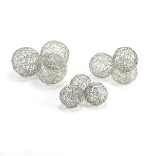 Wire Aluminum Spheres (Set of 3)