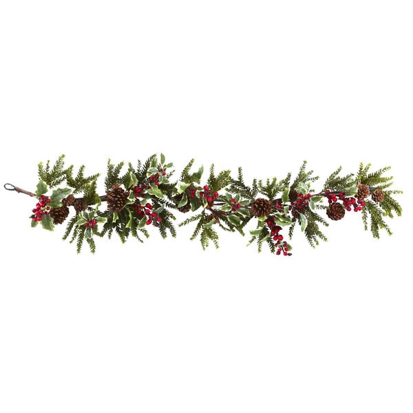 54-inch Holly Berry Garland