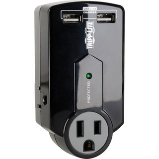 Tripp Lite Travel Surge 3 Outlet USB Charger Tablet Smartphone Ipad I