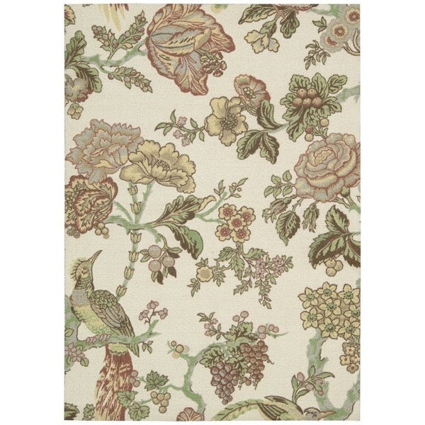 Waverly Global Awakening Casablanca Rose Pear Area Rug by Nourison (8' x 10') - 8' x 10'
