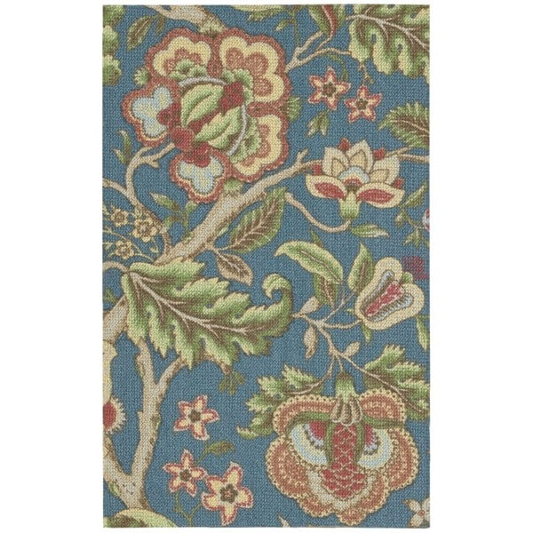 Waverly Global Awakening Imperial Dress Sapphire Area Rug by Nourison - 8' x 10'