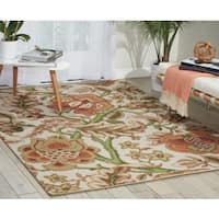 Waverly Global Awakening Imperial Dress Pear Area Rug by Nourison (8' x 10') - 8' x 10'